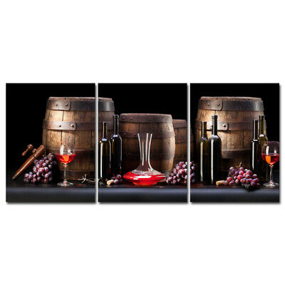 Canvas Print Painting Picture Wall Art Home Cafe Kitchen Decor Wine Barrel Brown