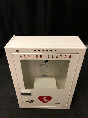 POTTER ROEMER Emergency Medical Defib Cabinet Steel Wall Mount White Type 2