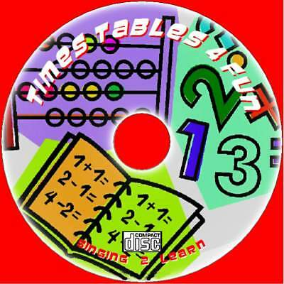 Childrens Times Tables Fastest Learning Method 2X-12X Tables Sing-Along Audio Cd