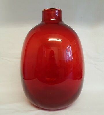 WhiteFriars Cranberry Ruby Red Glass Vase