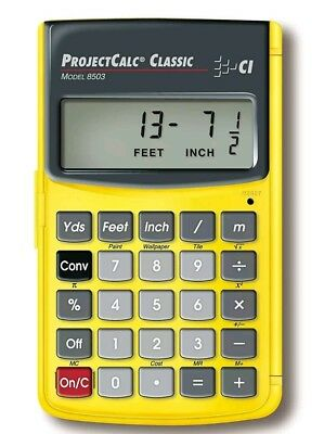 ProjectCalc Classic Feet-Inch-Fraction, Meter Project Calculator 8503