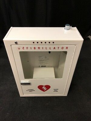 POTTER ROEMER Emergency Medical Defib Cabinet Steel Wall Mount White Type 3