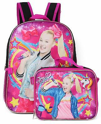 JoJo Siwa Girls School Backpack Lunch Box SET Book Bag Set Children Bow Star