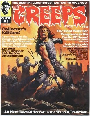 The Creeps Magazine Lot Of #1  & #2 Creepy, Eerie,  Zombie, Monster, Illustrated