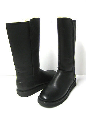 99ec9cd5a18 UGG ABREE II Leather Women Boots Black Tall Us 9 /Uk 7.5 /Eu 40