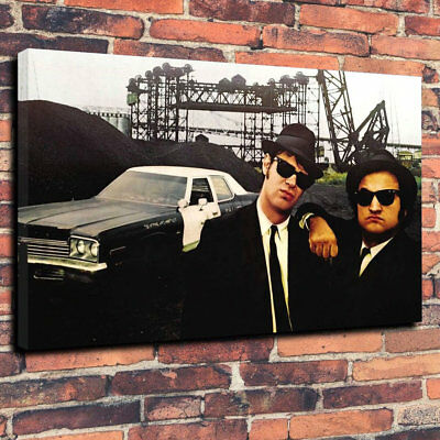 """The Blues Brothers Movie Printed Box Canvas Picture A1.30""""x20""""- 30mm Deep Frame."""