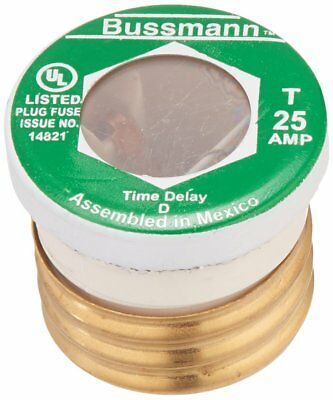 25A Time Delay Screw-In Fuse 4PK 125VAC Type T