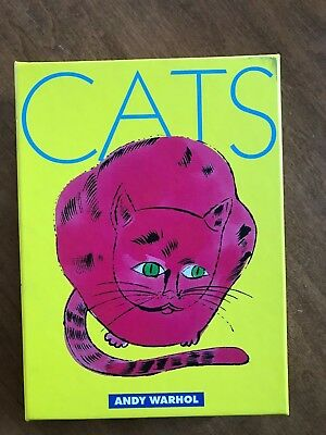 Andy Warhol Complete Box Cats Greeting Cards Note Cards Mod Retro Big Eyes 1990