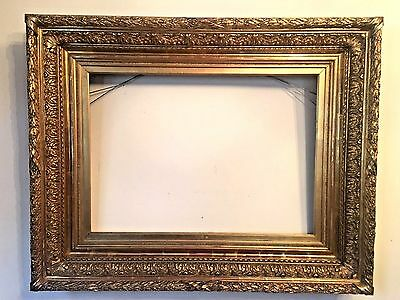Antique French Continental Baroque Style Carved Gilt Wood Frame Late 19th / C