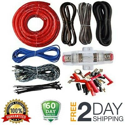 new 8 awg amplifier wiring kit car stereo audio installation amp rh picclick com car amplifier capacitor wiring diagram best car amp wiring kit
