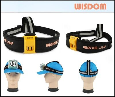 Wisdom head lamp cap lamp strap band reflective