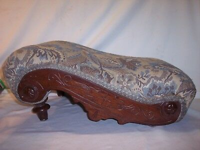 Rare Vintage Antique Eastlake Victorian Wood Gout Footstool Foot Stool Ottoman