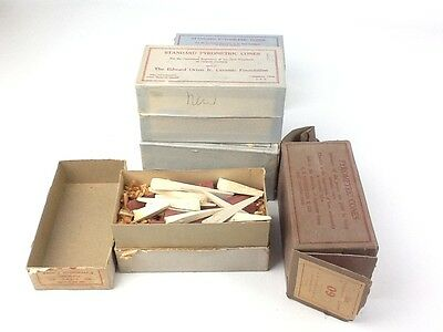 Vintage Lot of 5 Edward Orton Standard Pyrometric Cones Boxes Made In USA