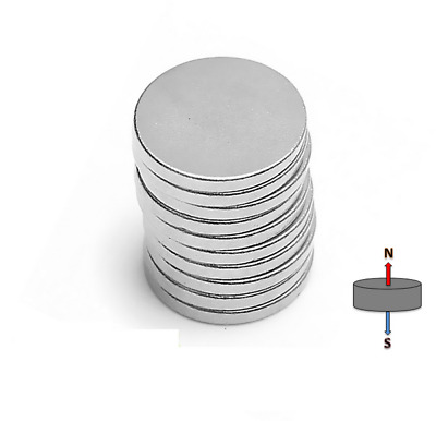 20X Strong N35 10mm x 2mm Neodymium Disc Rare Earth Magnet Fridge Disk Art Model