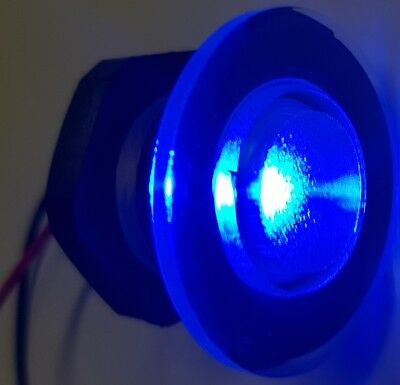 2x Waterproof Courtesy LED Blue Light Submersible 38mm for Livewell Boat Marine