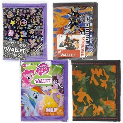 Kids' Colorful 4x5 Wallet Transformers, My Little Pony, Camo, Girlie SHIPS FREE