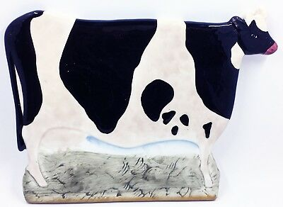 Warren Kimble Country Cow Tile Glossy Ceramic Folk Art Style 7""