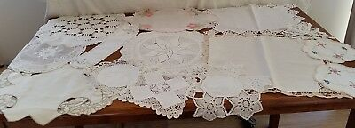 BULK LOT Vintage Retro CROCHET EMBROIDERED DOILIES for Craft Sew Projects