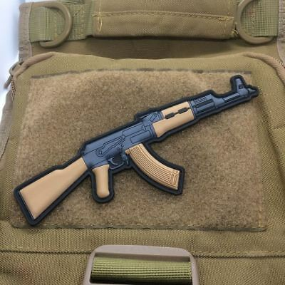 AK 47 AK47 AK-47 USSR Russian Army Military Rifle Gun PVC Morale Patch