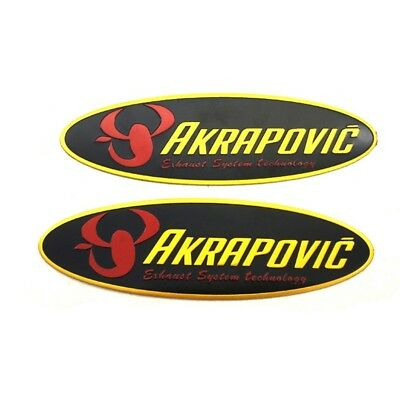 2pcs Scorpio Stickers Heat-resistant Exhaust Pipe Refitting Supplie AKRAPOVIC
