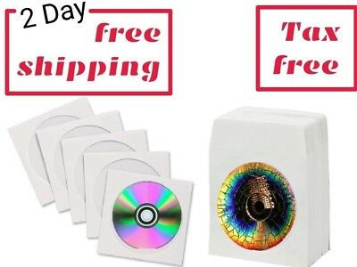 Paper Sleeves for Cd Dvd Pack 100X Disc Case Cover Clear Window White Envelope