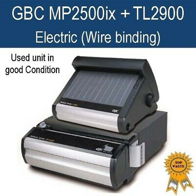 Used GBC MP2500ix+TL2900 electric wire binding / binder (good working condition)