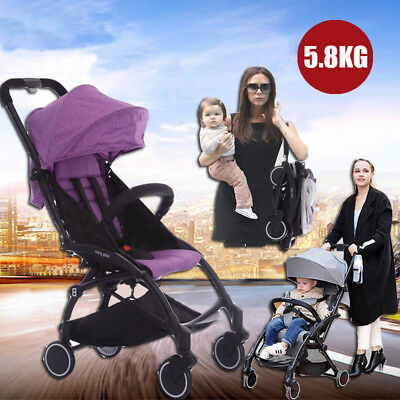 Portable Foldable Baby Stroller Compact Lightweight Pram Travel Carry-on Plane