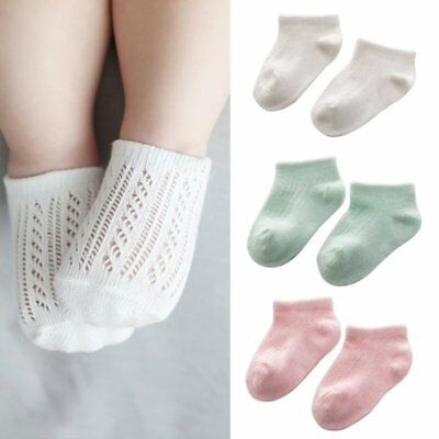Multi-Color Baby Kids Solid Cotton Warm Breathable Ankle Socks For 0-3 Years