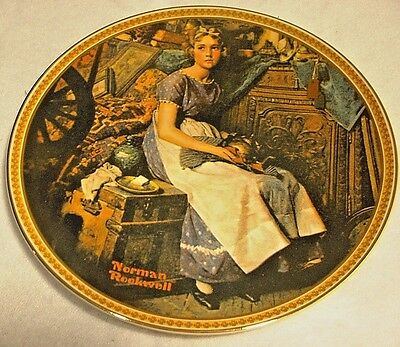 """Edwin M. Knowles Plate """"Rockwell's Rediscovered Women"""" """"Dreaming in the Attic"""""""