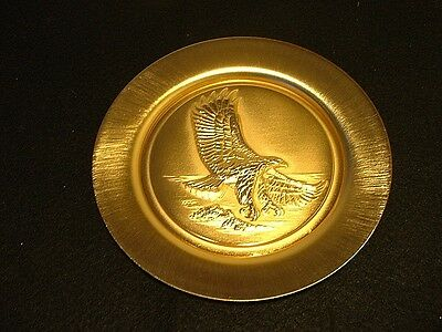 """Goebel """"Freedom and Justice Soaring"""" 24K Gold on pure Copper Collector Plate MIB"""