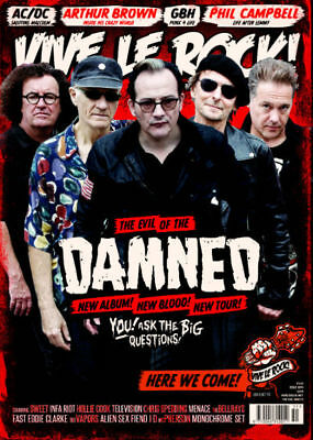 VIVE LE ROCK ISSUE 51 - Feb 2018 -  The Damned, ACDC, GBH, Sweet, Phil Campbell