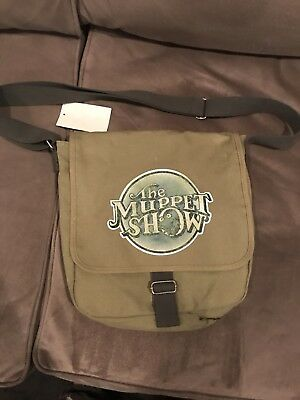 The Muppet Show Green Messenger/Shoulder Bag Kermit Disney *NWT!*