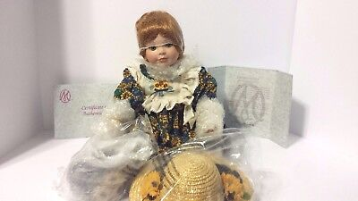 Rare Sunny Jo Seated Marie Osmond Porcelain Doll New In Box And Coa #125
