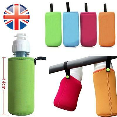 *UK Seller* Baby Bottle Insulated Carrier Bag Keep Warmer Pouch Link on Buggy