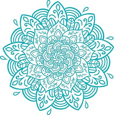 Mandala sticker // die-cut hippie decal // boho, bohemian, sacred geometry, art