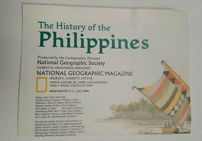National Geographic Mag -supplement map history of the philippines - free post