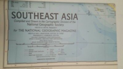 National Geographic Mag -supplement map - southeast asia  - free post