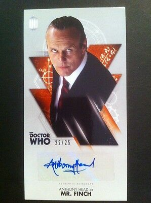 """TOPPS Dr Who  OVERSIZED 2.5 """"X 4.75"""" Autograph Auto Card #22/25 ANTHONY HEAD"""