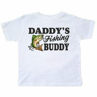 Inktastic Daddy's Fishing Buddy Toddler T-Shirt Kids Little Fish Illustration I