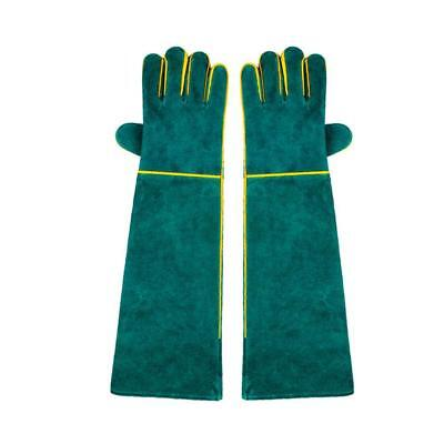 Long Welding Gloves HEAT RESISTANT WEAR RESISTANT Welder/Fireplace Green Well
