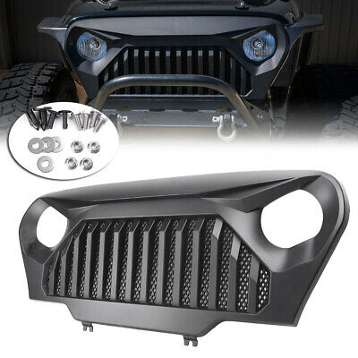 Front Grill Grille Angry Bird Fit Jeep Wrangler TJ 1997-2006 Matte Black Car