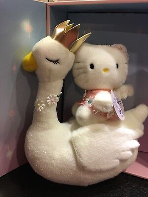 NIB Hello Kitty Angel On Swan 25th Anniversary Limited Edition Plush Doll Japan