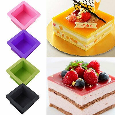Silicone Square Mould Cake Bread Tin No Stick Bakeware Baking Pan Bake Ove UKPL
