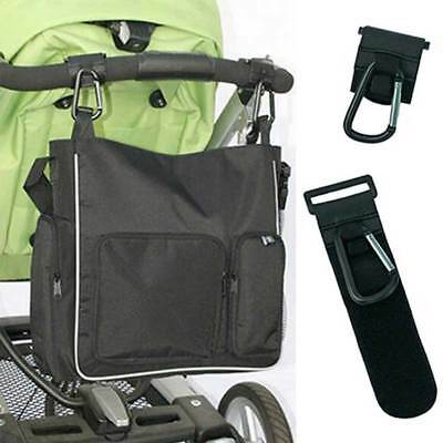 HP 1PC Black Baby Stroller Strong Hook Clip Bag Pram Buggy Hanger Shopping Hook