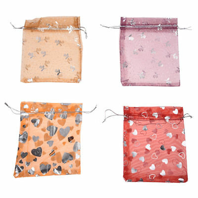 20x Mixed Color Organza Gift Bags Precious Rings Jewellery Make Up Pouch Safety