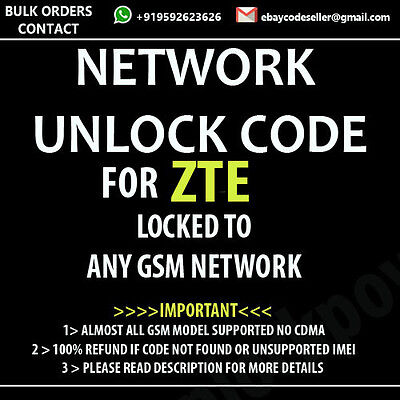 ZTE Tempo Telstra T815 UNLOCK CODE NETWORK UNLOCK / PIN
