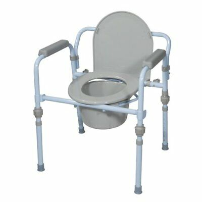 Folding Bedside Commode Seat with Commode Bucket and Splash Guard