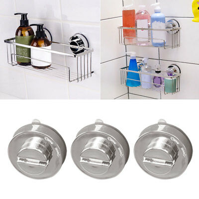 Stainless Bathroom Sucker Shelf Shower Caddy Storage Holder Rack Organizer UKPL