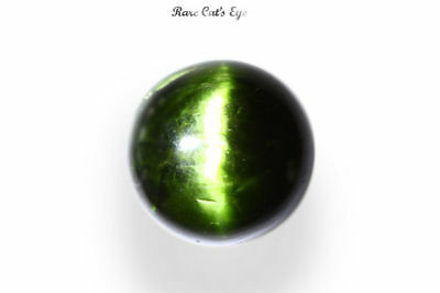 "30.89 Ct Huge Unique Very Rare Green 100% Nr"" Kornerupine Cat's Eye India Mine"