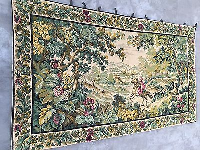"""A Stunning French Aubusson Wall Hanging Tapestry  47"""" By 77''"""